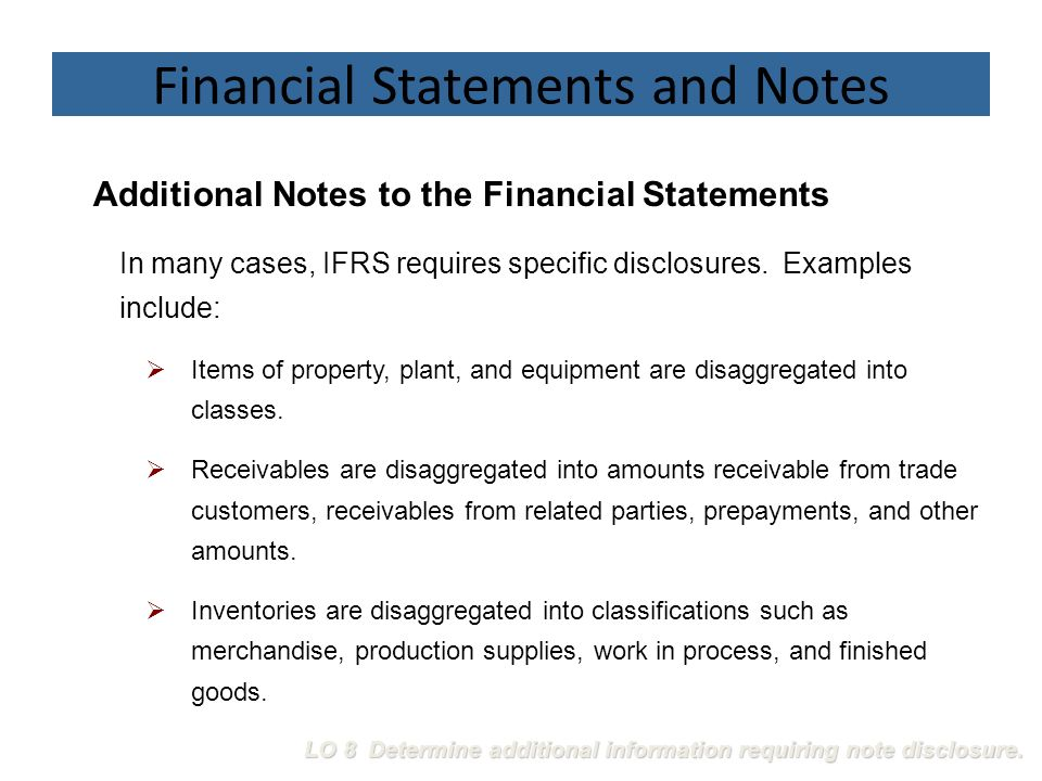 notes to the financial statements essay Definition of financial statement: summary report that shows how a firm has used the funds entrusted to it by its stockholders (shareholders) and lenders, and what is its current financial position the three basic financial statements.