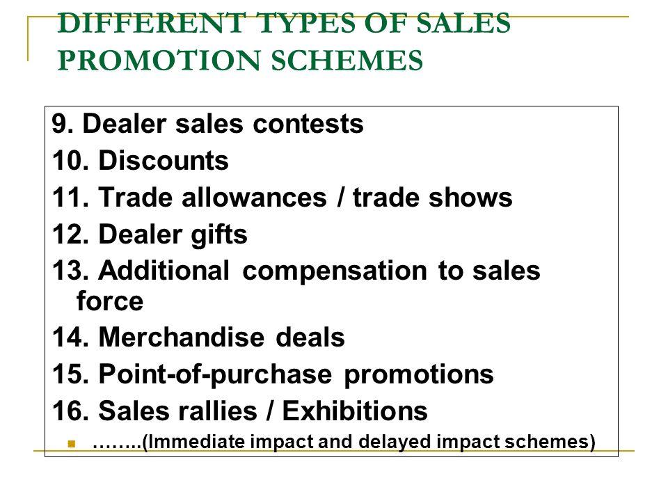 types of sales promotion pdf
