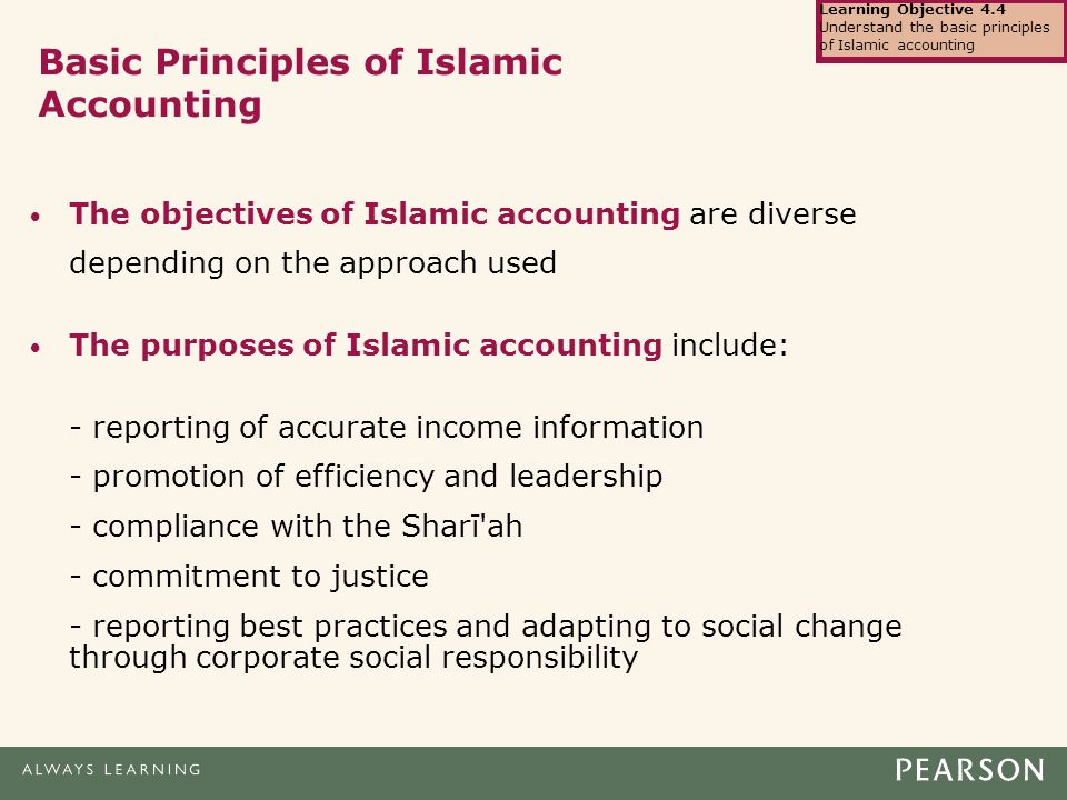 islamic accounting in business practices Journal of islamic accounting and business research the sharia-compliance of financial reporting practices: a case study on waqf anna che azmi mohamed hisham hanifa.
