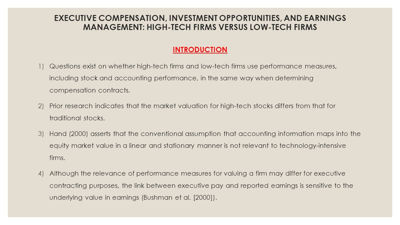 earnings management and executive compensation