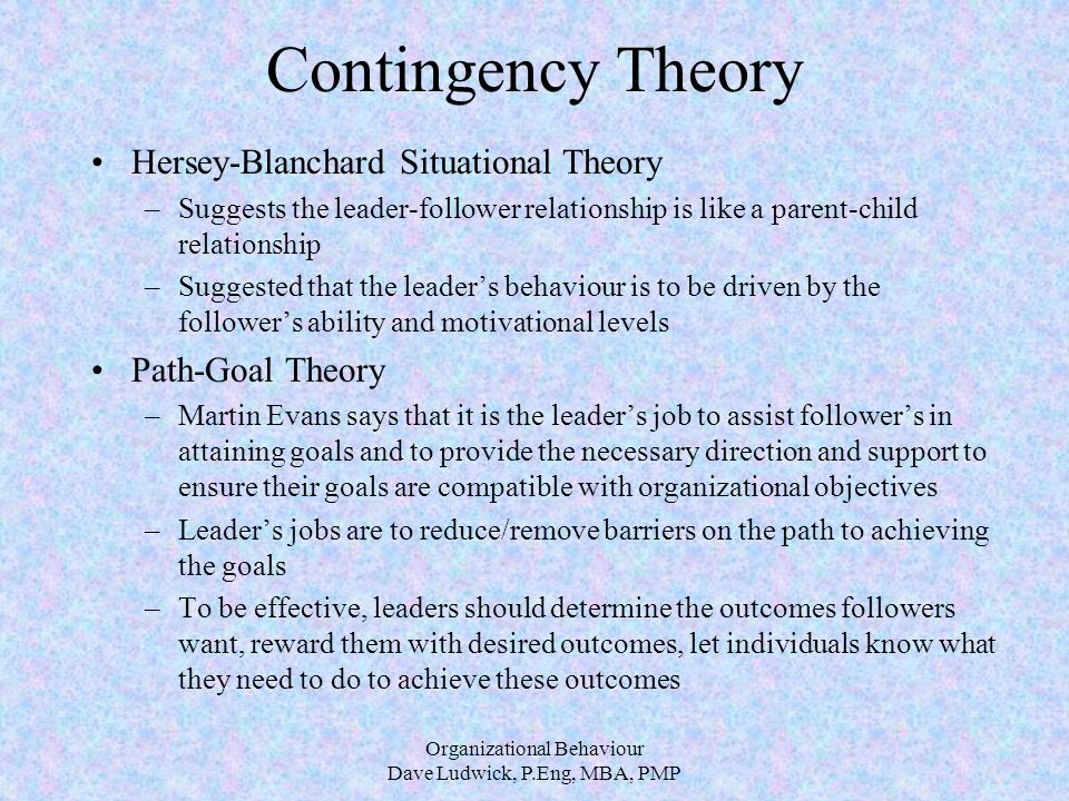 child parent relationship theory and leadership