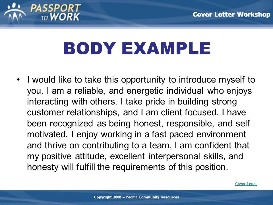 BODY EXAMPLE