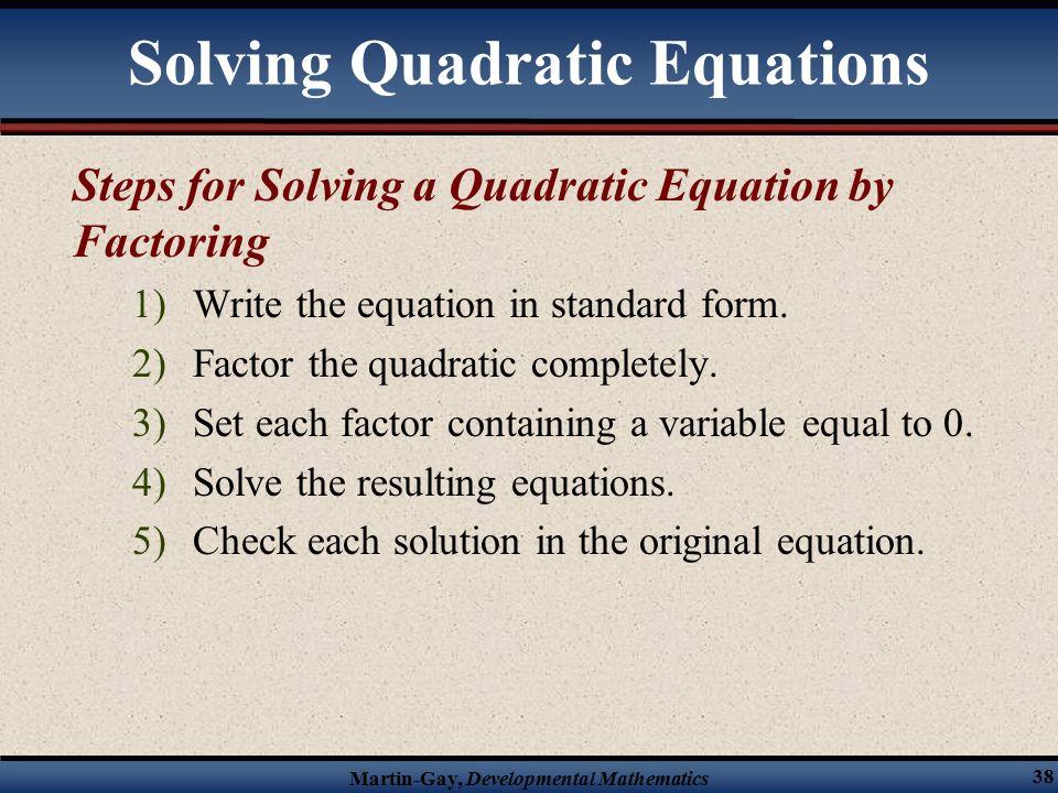 how to write a quadratic equation