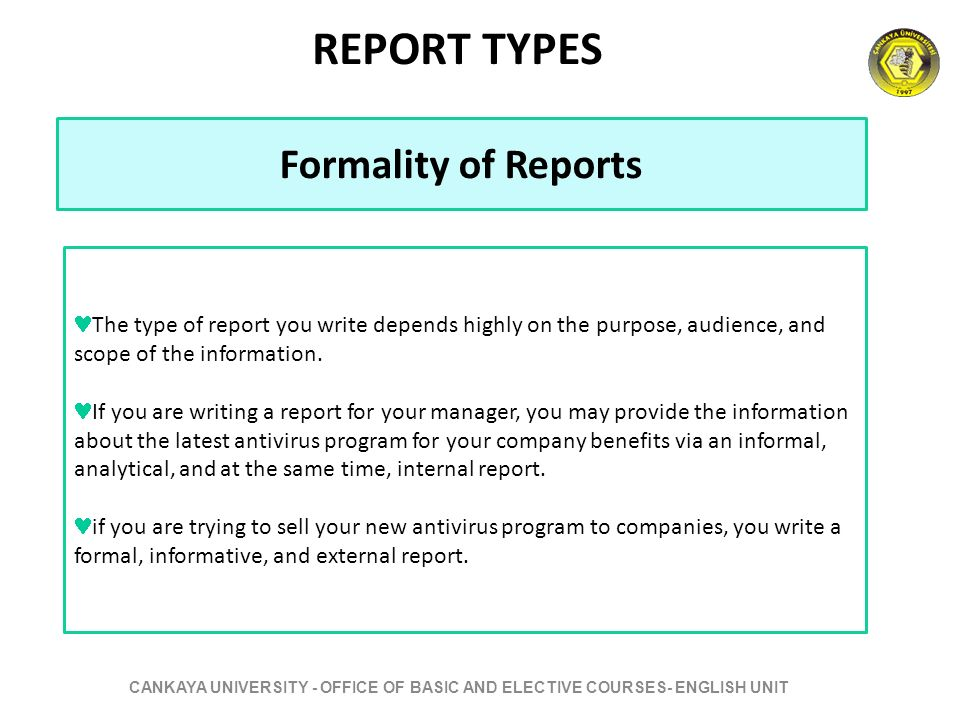 how to write a report to your manager