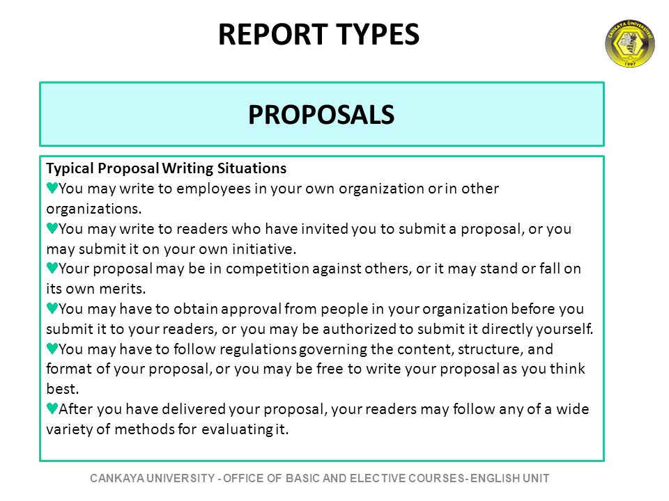 Proposal and report writing