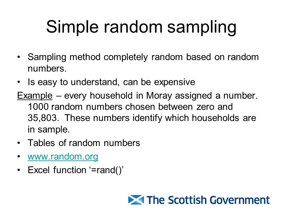 Sampling methods and sampling theory ppt video online download - Random things every house needs ...
