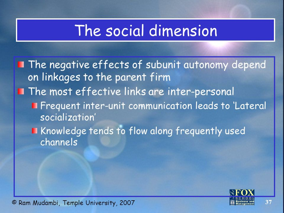 The Social Dimensions of Globalization