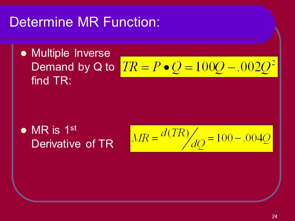 how to turn demand function into revenue function