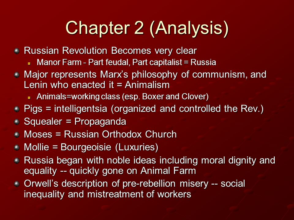 animal farm russian revolution analysis Transcript of animal farm: corruption of power thus, the parallels of animal farm and the russian revolution are as follows: snowball - leon trotsky napoleon.