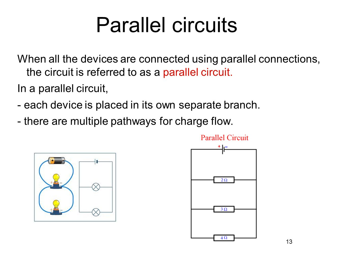 Series and parallel circuits ppt download 13 parallel circuits when all the pooptronica Choice Image