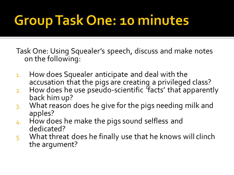 animal farm squealer essay example Animal farm character analysis on squealer essays  animal farm was written  by george orwell the book is about the animals defeat humans and get.