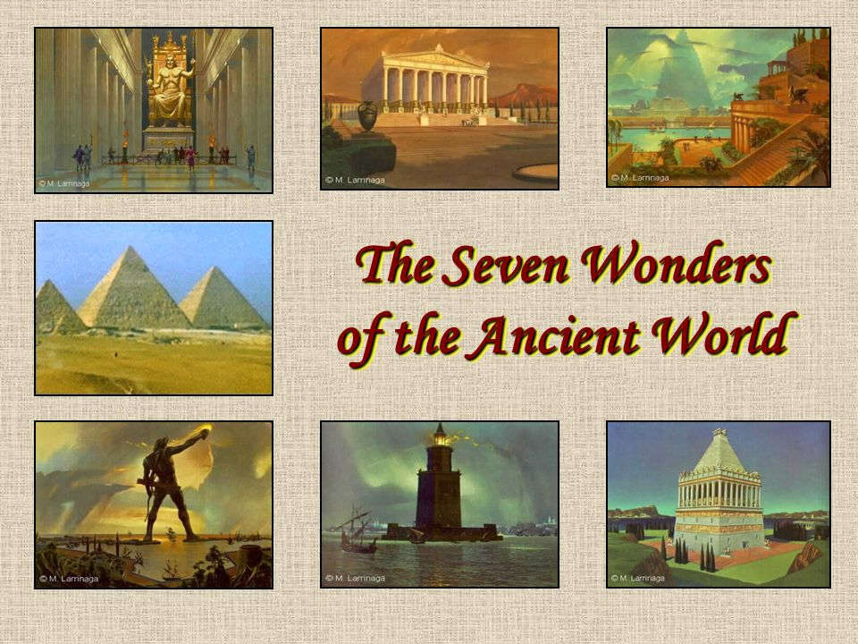 the seven wonders of the ancient world ppt