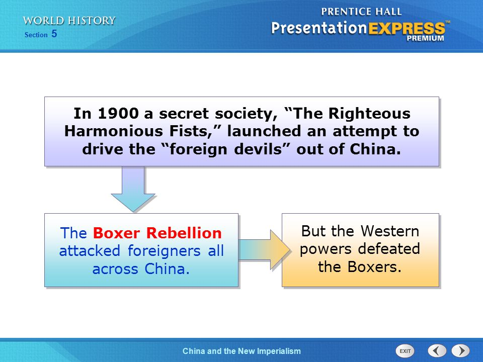 The Boxer Rebellion attacked foreigners all across China.