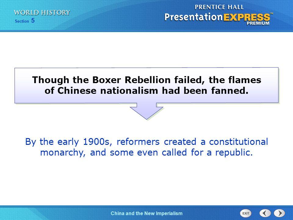 Though the Boxer Rebellion failed, the flames of Chinese nationalism had been fanned.