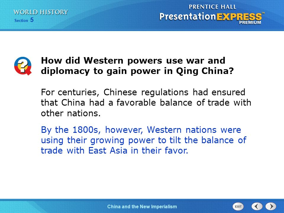 How did Western powers use war and diplomacy to gain power in Qing China