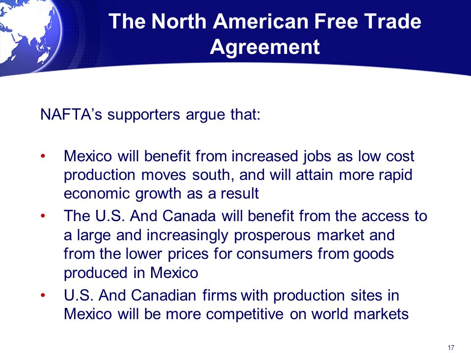 regional analysis north american free trade agreement Content and media associated with north american free trade agreement north american free trade agreement (nafta) established a free-trade zone in north america it was signed in 1992 by canada analysis of newly released value-added data from the organization of economic.