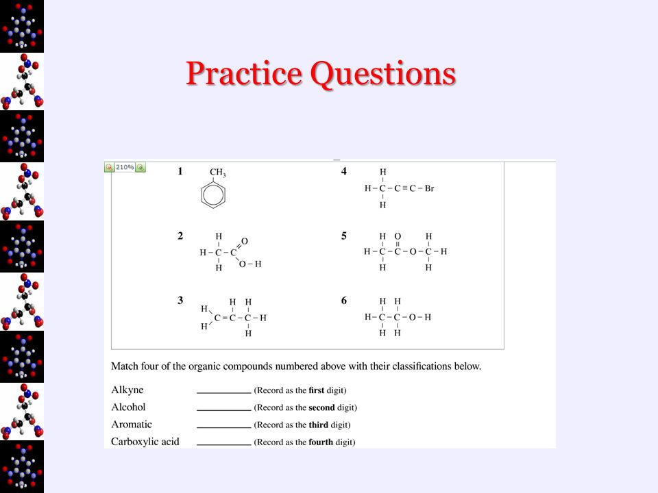 practice test questions organic chemistry alkanes Here's a printable multiple choice quiz you can take to test yourself the images  are chemical structures of various simple alkane, alkene or.