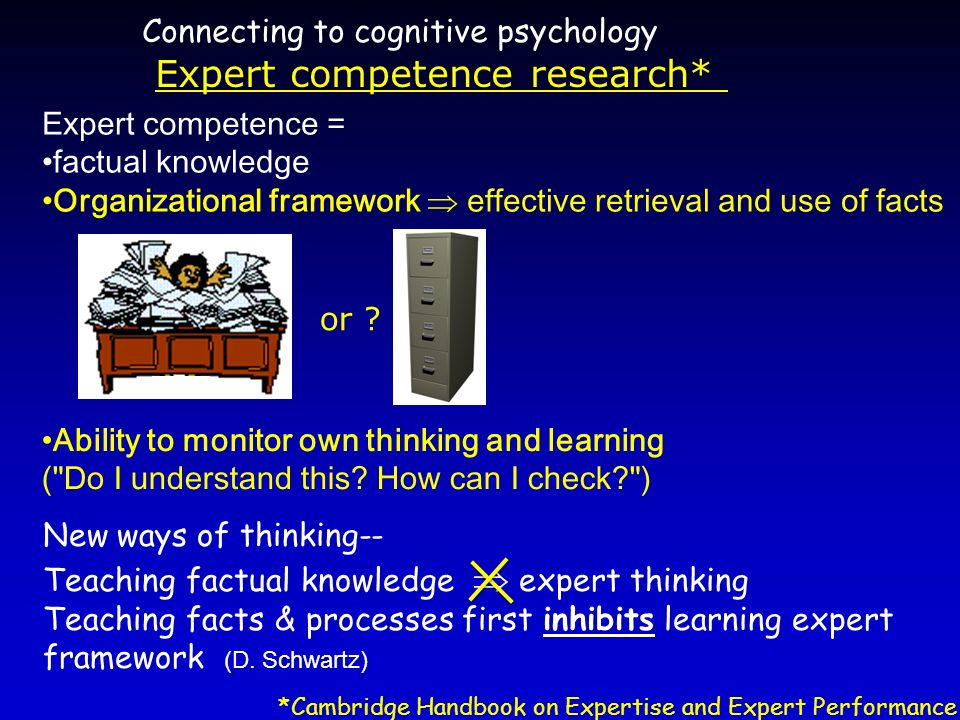 Expert competence research*