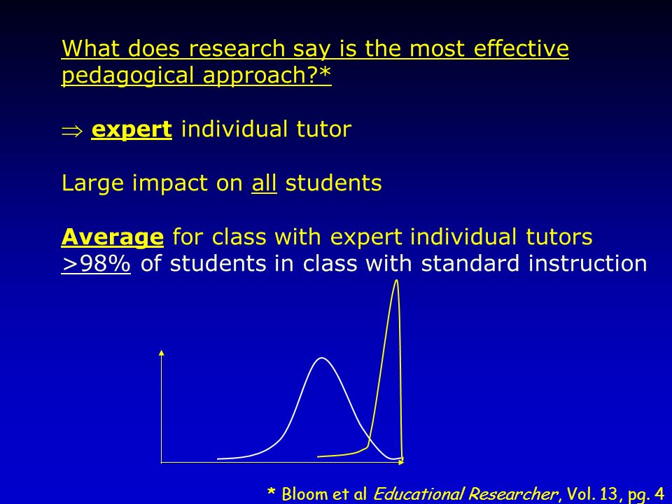 What does research say is the most effective pedagogical approach *