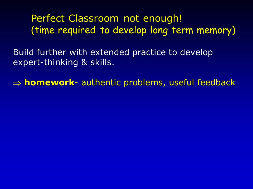 Perfect Classroom not enough!