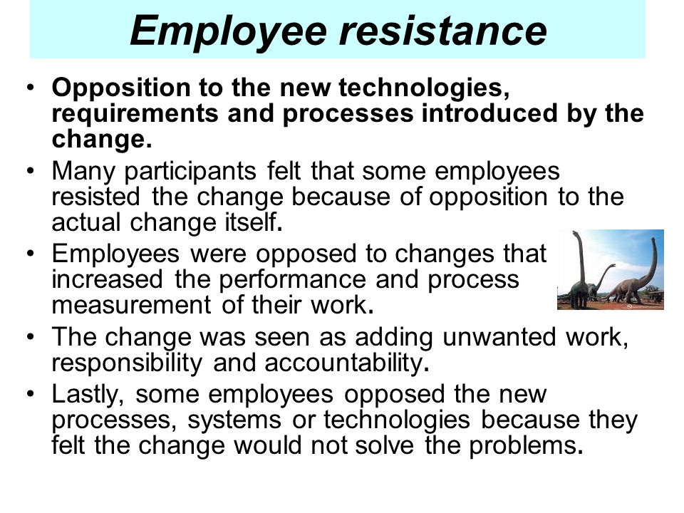 Employee resistance to new technologies in the workplace essay
