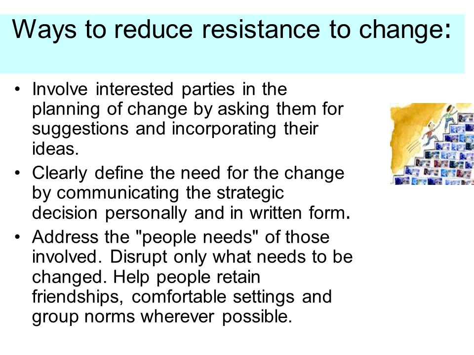 Five Tips for Managing Resistance