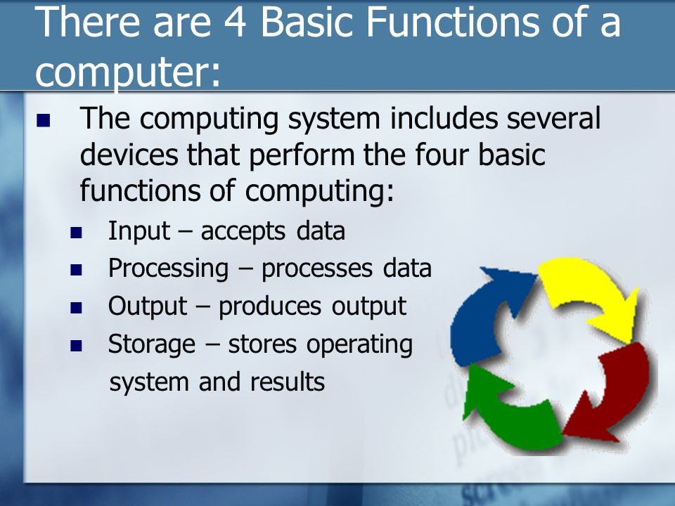 basic functions of computers ____ 1 learn basic computer terms  module 1 - handouts: computer basics  keys for special functions 3 monitor the part of a computer system that contains the .