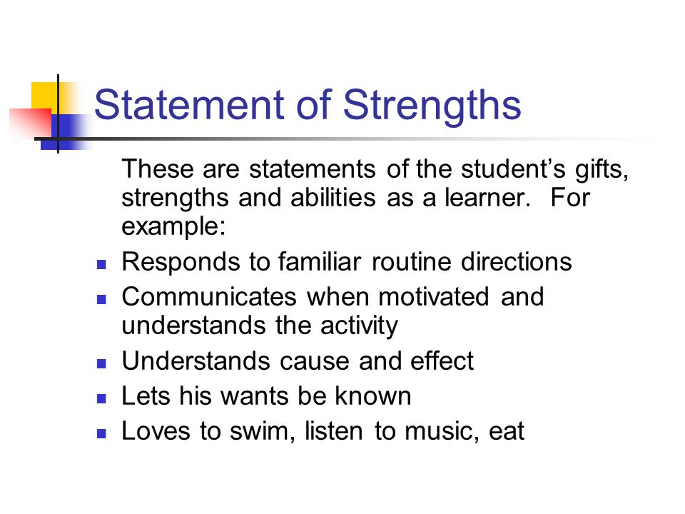 Statement of Strengths