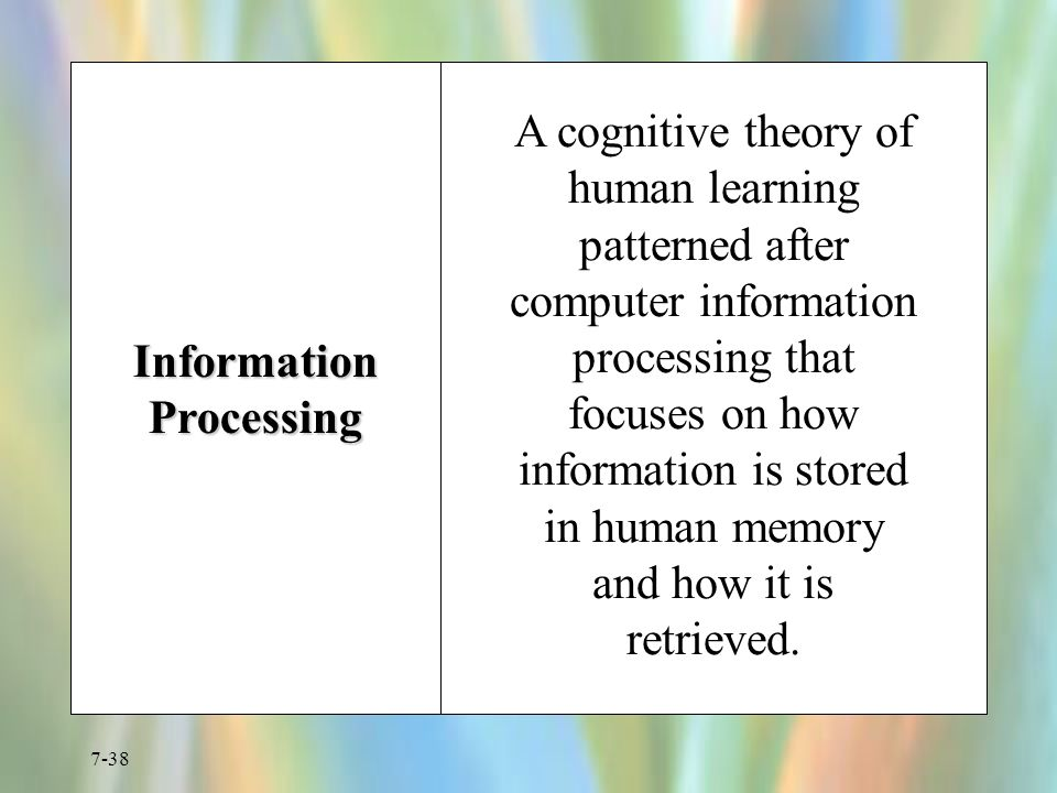 human and computer information processing An overview of other cognitive compatibility principles and examples of their use in human–computer interaction is also provided.