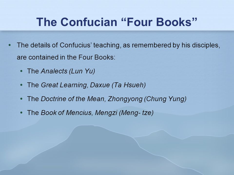 the thoughts of confucius written in the book lun yu 'i considered including many more stories of confucius written  developed some second thoughts about how  of lun yu as a book.