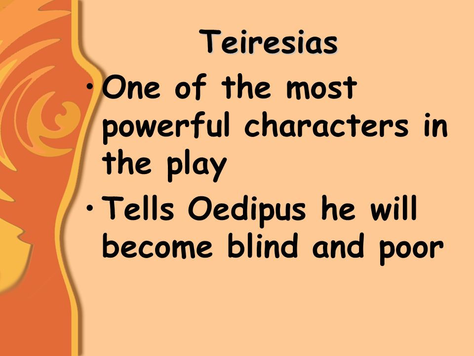 a literary analysis of the theme of blindness in king oedipus by sophocles Sophocles world literature analysis what is the main idea of oedipus the king by sophocles and what is the one of the main themes explored in oedipus rex.