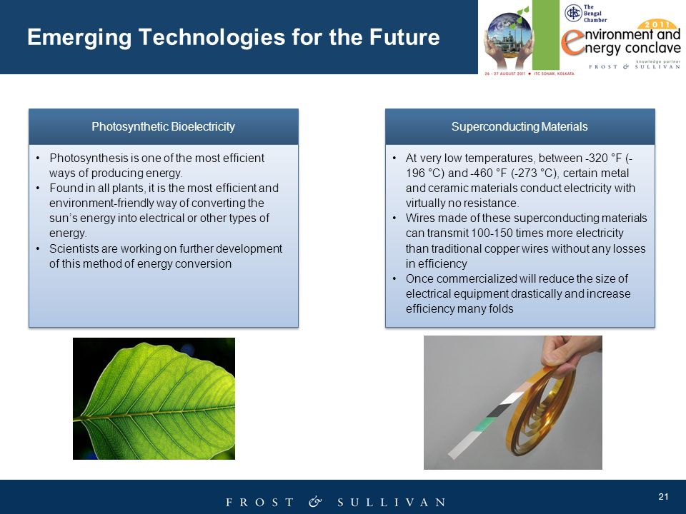 Emerging Technologies for the Future