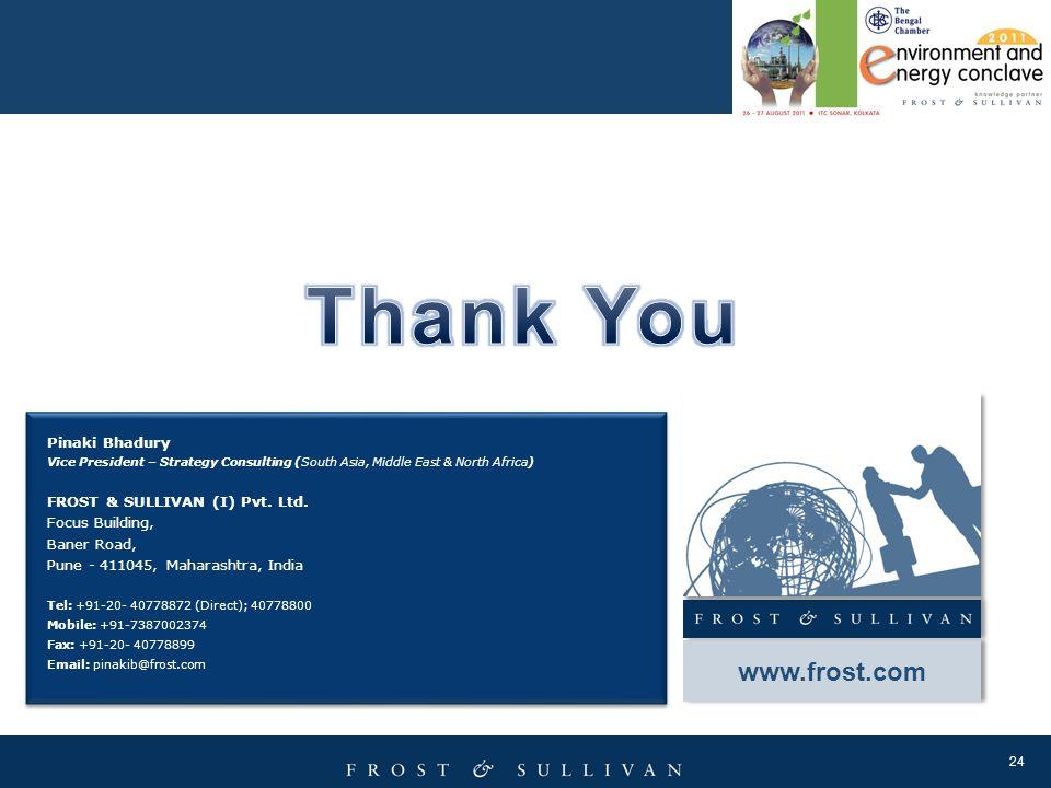 Thank You www.frost.com Pinaki Bhadury FROST & SULLIVAN (I) Pvt. Ltd.