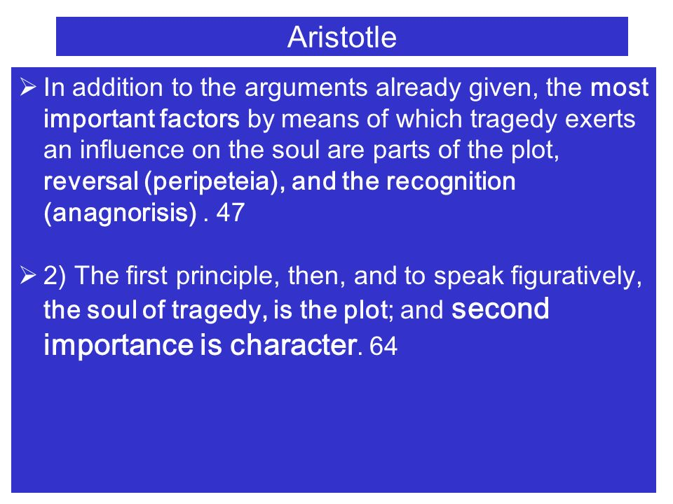 an introduction to the analysis of tragedy by aristotle The book aristotle's poetics, stephen halliwell is published by university of  chicago press  despite its laconic brevity, is a coherent statement of a  challenging theory of poetic art, and it hints towards a theory of mimetic art in  general  introduction to 1988 edition  fallibility & misfortune: the  securlarisation of the tragic.