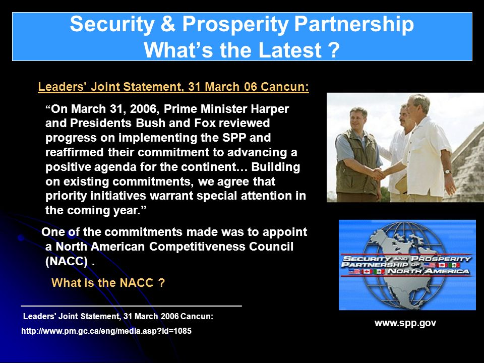 Security & Prosperity Partnership What's the Latest