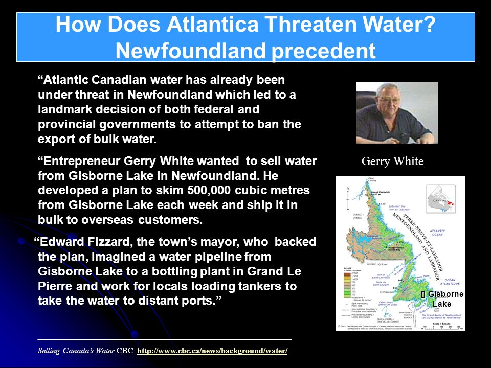 How Does Atlantica Threaten Water Newfoundland precedent