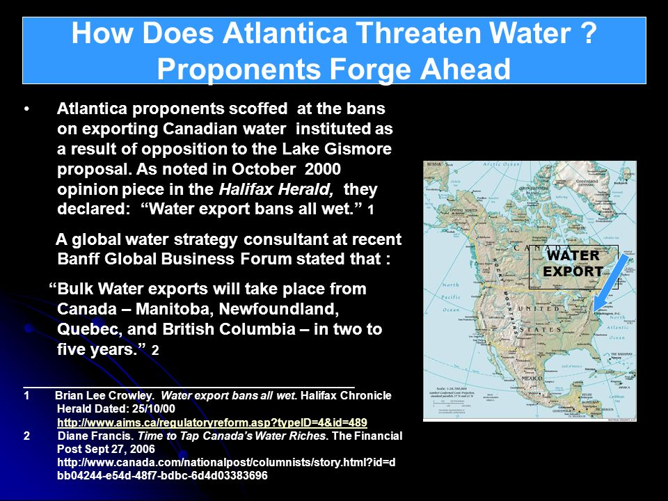 How Does Atlantica Threaten Water Proponents Forge Ahead