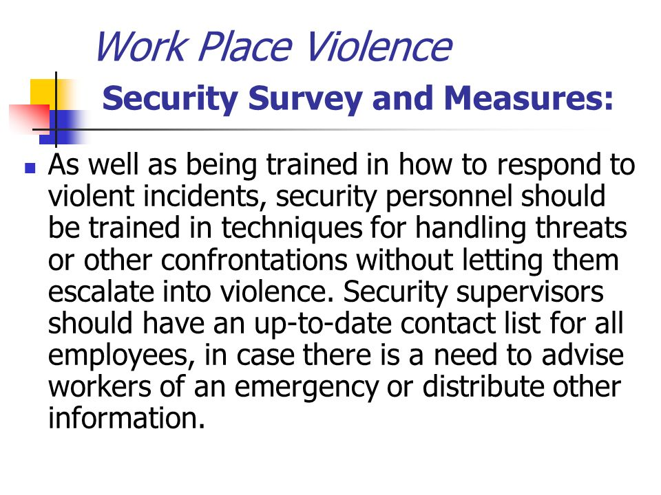 case of work place violence essay Workplace violence news find breaking news, commentary, and archival information about workplace violence from the tribunedigital-chicagotribune  task force targets violence at work by mark .