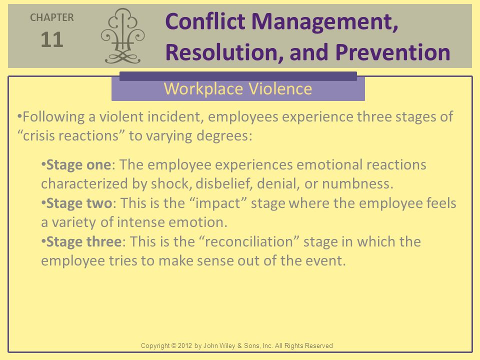 workplace violence chapter 1 case incident 2 workplace violence Page 2 chapter 1 - organization strategic planning guide   chapter 5 -  workplace violence managers investigation template        page 19 chapter  6 - workplace  incident stress debriefing, psychological counseling ser- vices,  peer.
