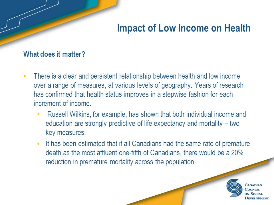 Impact of Low Income on Health