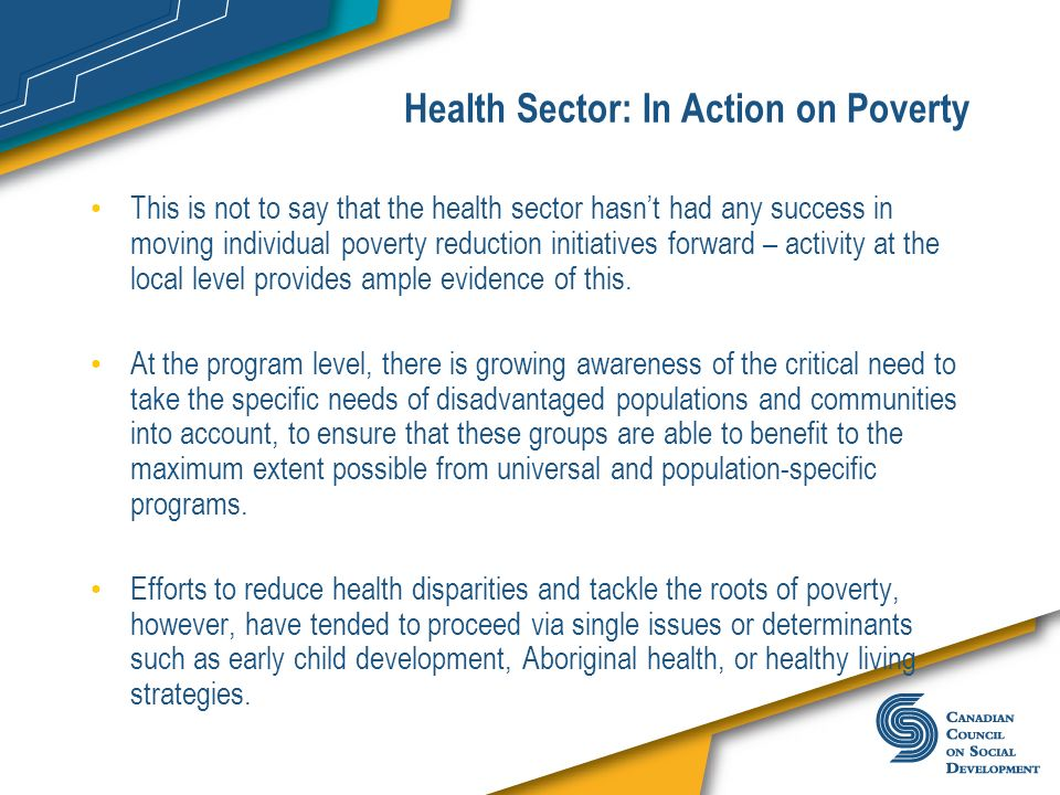 Health Sector: In Action on Poverty