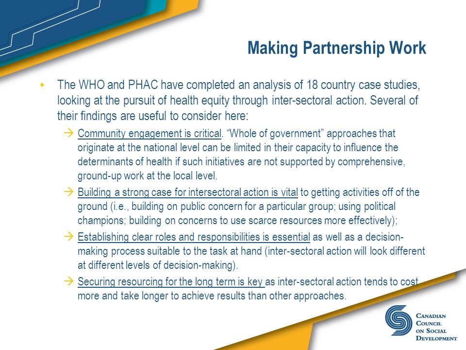 Making Partnership Work