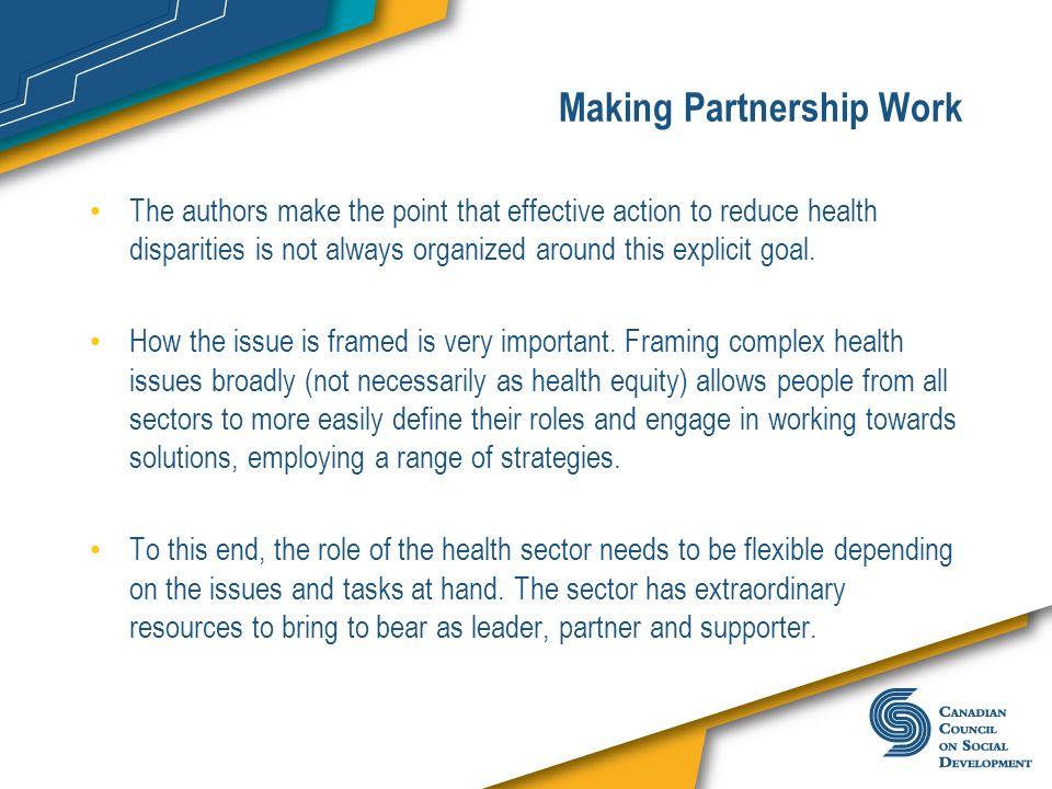 Making Partnership Work