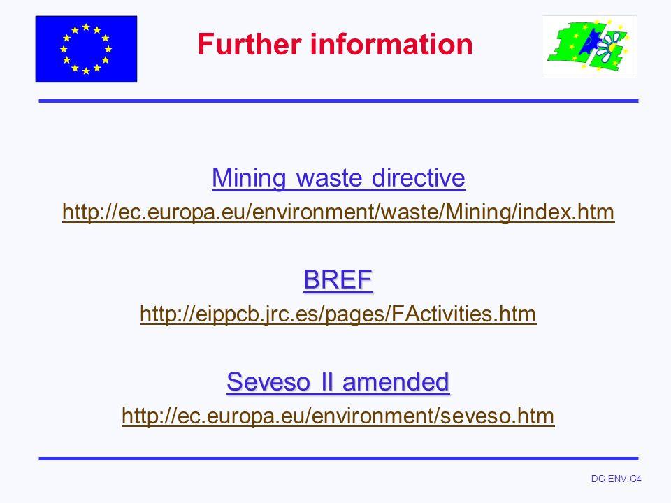 Mining waste directive