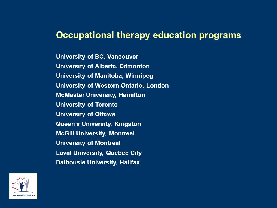 Occupational therapy education programs