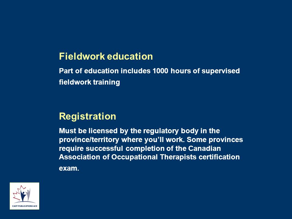 Fieldwork education Registration