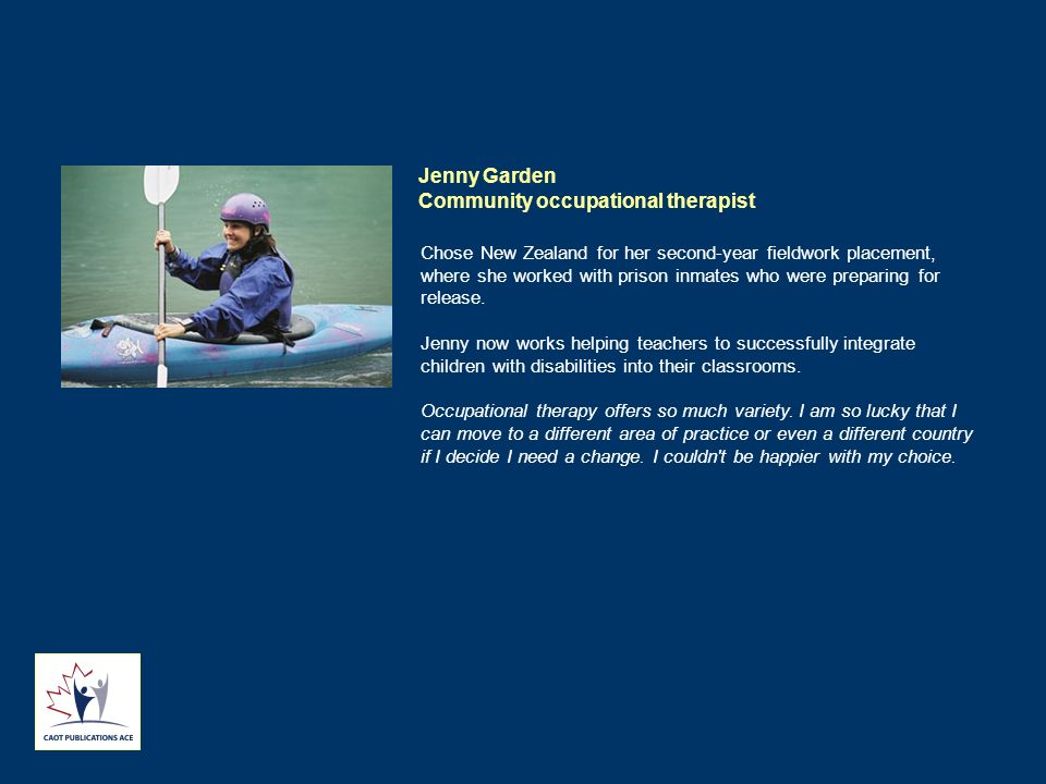 Jenny Garden Community occupational therapist