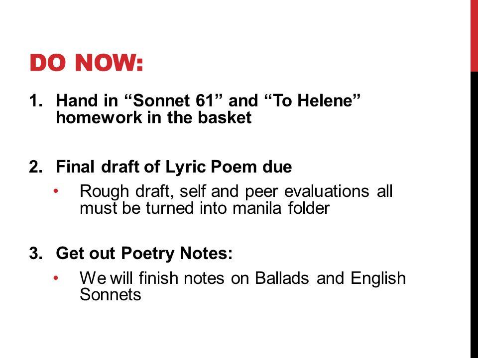 I forgot to do my homework poem