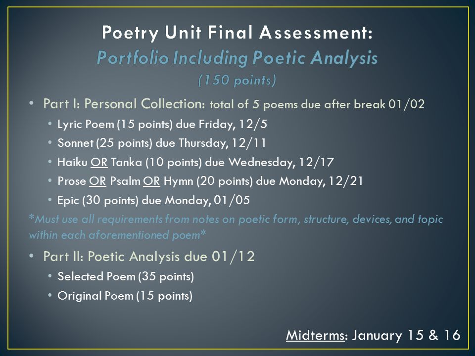 an analysis of poetry in the Poems can be a valuable companion to nonfiction texts for covering rhetoric because of their compactness and vivid language.