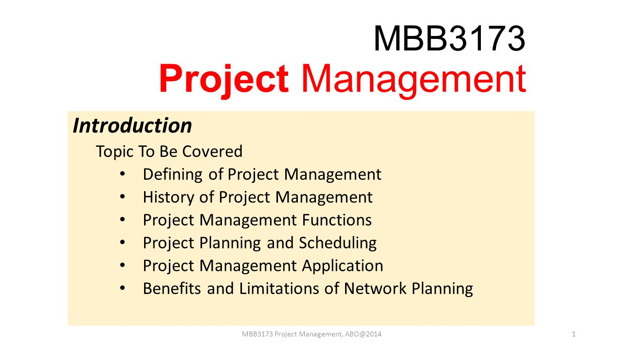 project planning and management pdf
